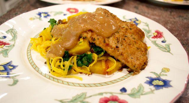 Gruyere Marsala Veal & Vegetable Taglioini