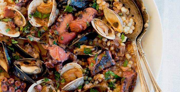 Marsala Braised Octopus with Crispy Capers