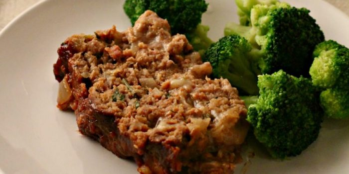 Cheesy Marsala-Glazed Meatloaf Recipe