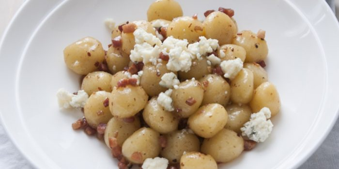 Spicy Marsala Gnocci with Gorgonzola