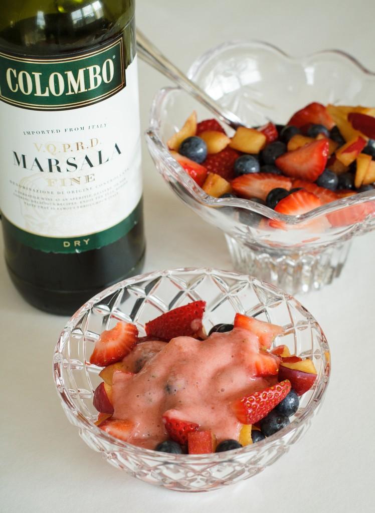 Fresh Fruit and Marsala Sauce